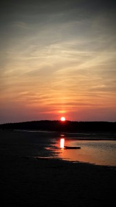 Sunset at Popham Beach State Park - Phippsberg, ME